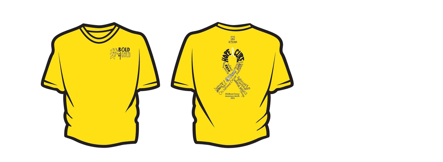 "Official 2015 ""Childhood Cancer Awareness"" T-shirt"